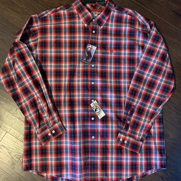 NWT* Cinch Button Down Shirt XXL